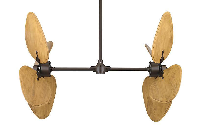Palisade Ceiling Fan, Rust