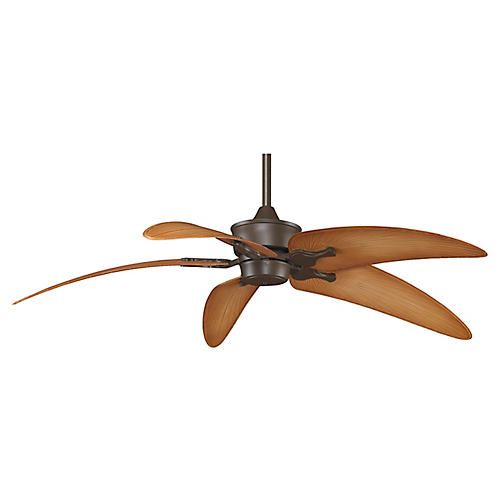 Islander Ceiling Fan, Bronze/Natural