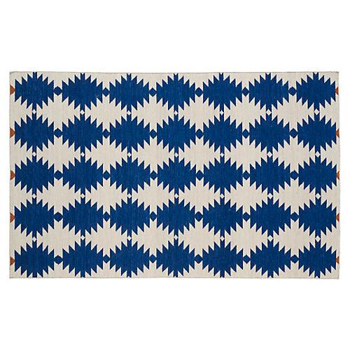 Elsa Flat-Weave Rug, Navy/Beige