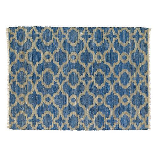 Barris Jute-Blend Rug, Blue