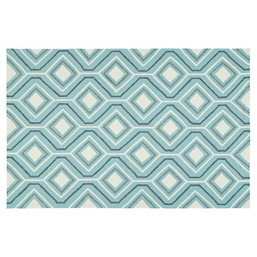 Briann Outdoor Rug, Blue