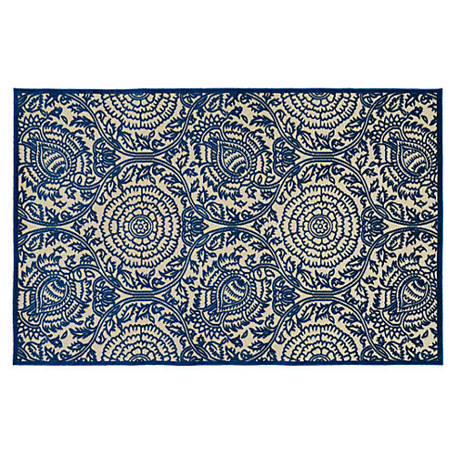 Bevis Outdoor Rug, Navy