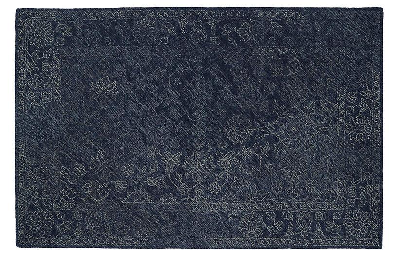 Diminuendo Wool Rug, Denim Blue