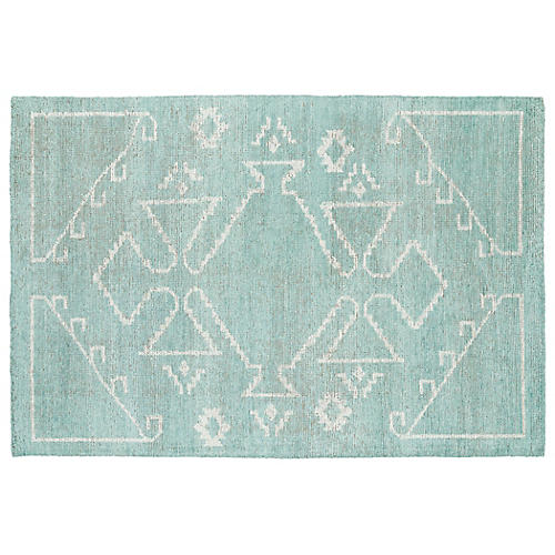 Conner Rug, Mint/Ivory