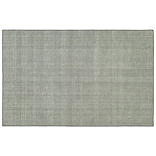 Onika Flat-Weave Rug, Gray