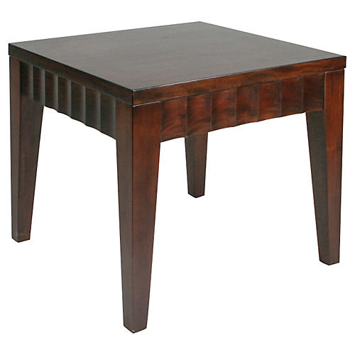 "Roma 24"" Side Table, Walnut"