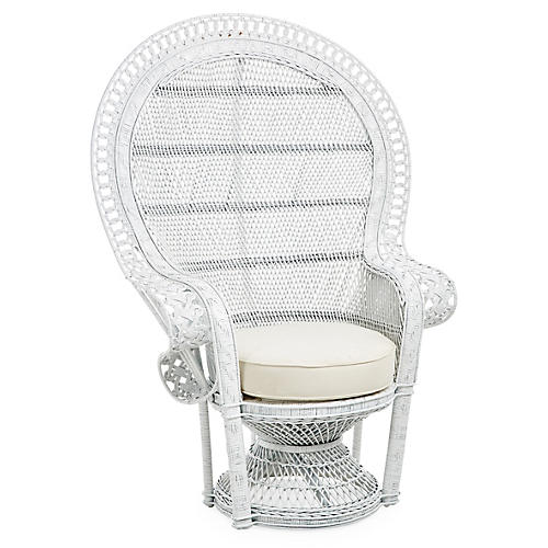 Peacock Chair, White