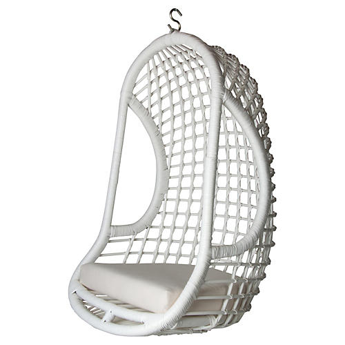 Clyde Hanging Chair, White