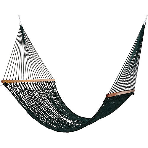 Green All Weather Rope Hammock, Large