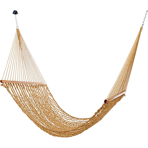 Tan All Weather Rope Hammock, Large