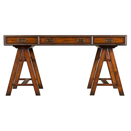 "Jodhpur 60"" Writing Desk, Russet"