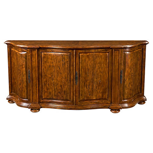 "Statement 84"" Sideboard, Russet/Gold"