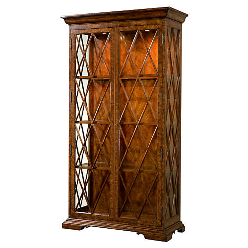 "Brooksby 43"" Display Cabinet, Brown"