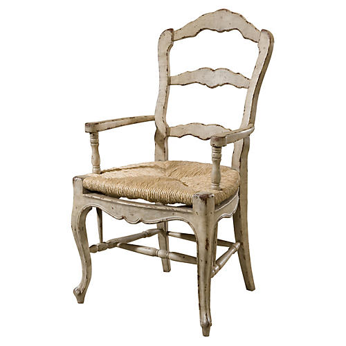 Delphine Rush Armchair, Natural