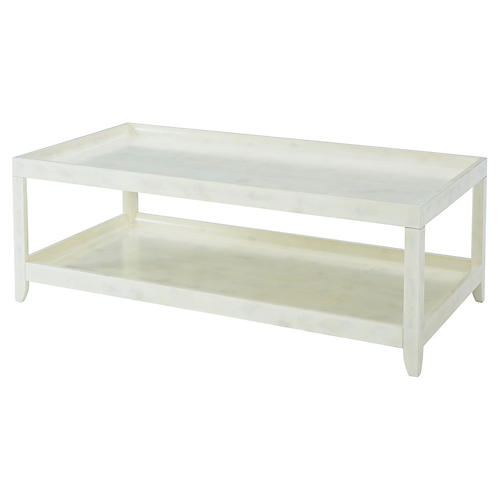 Brentwood Coffee Table, Eggshell White