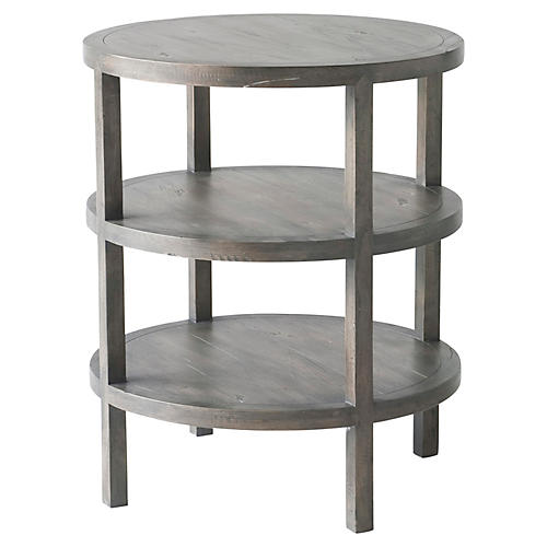 Hemway Round Side Table, Cocoa