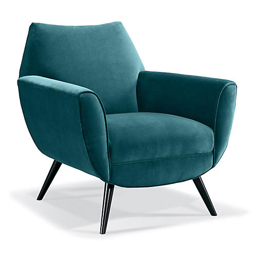 Finnegan Accent Chair, Peacock Crypton