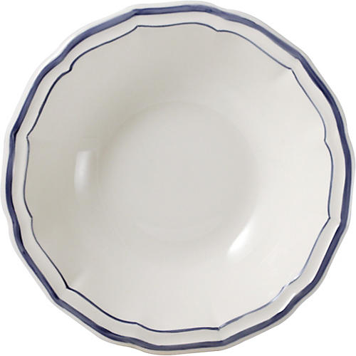 Fliet Bleu Cereal Bowl, White/Blue