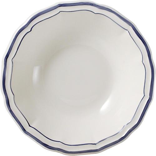 Fliet Bleu Cereal Bowl, White/Blue