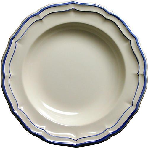 Fliet Bleu Soup Bowl, White/Blue