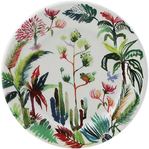 S/2 Jardins Coasters, White/Multi