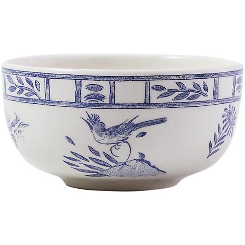Oiseau Condiment Bowl, Blue/White
