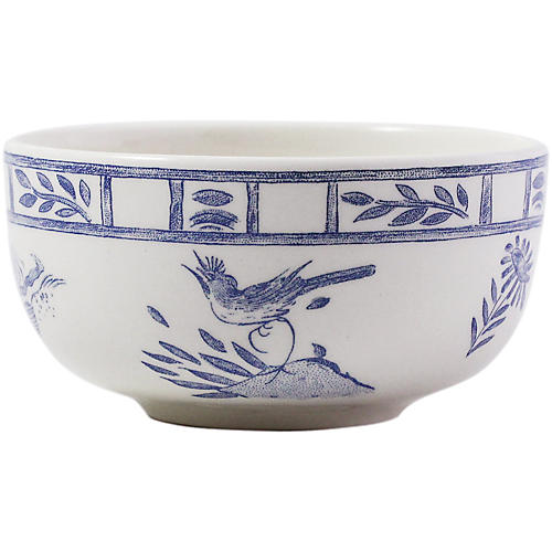 Oiseau Condiment Bowl, Blue/White