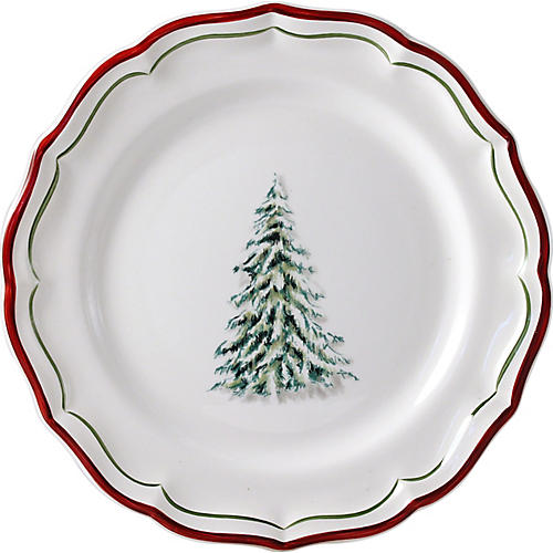 Noel Dessert Plate, White/Multi