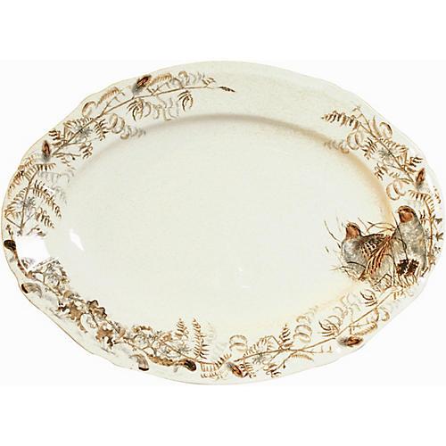 Sologne Oval Platter, Ivory/Multi