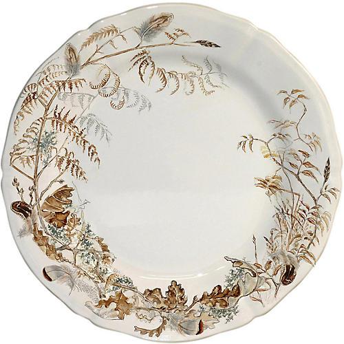 Sologne Dinner Plate, Ivory/Multi