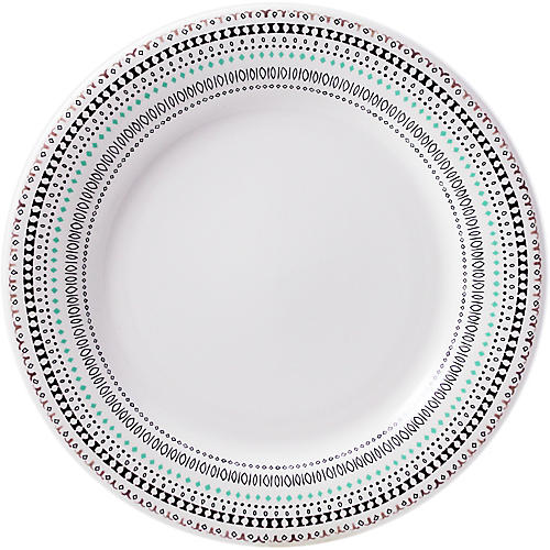 Coquette Dinner Plate, White/Multi