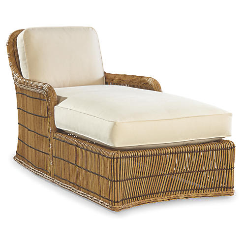 Rafter Chaise Longue, Canvas