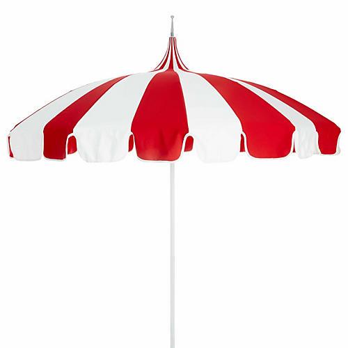 Pagoda Patio Umbrella, Red/White
