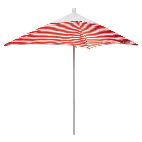 Square 6' Patio Umbrella, Flame Stripe