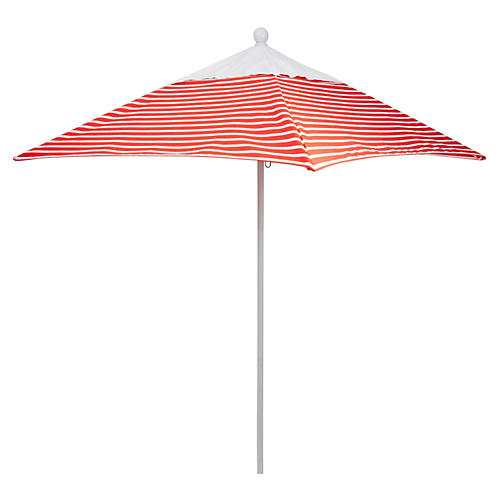 Square 6' Patio Umbrella, Flame Stripe