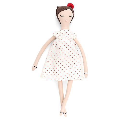 Sprinkles Toy Doll, White/Red