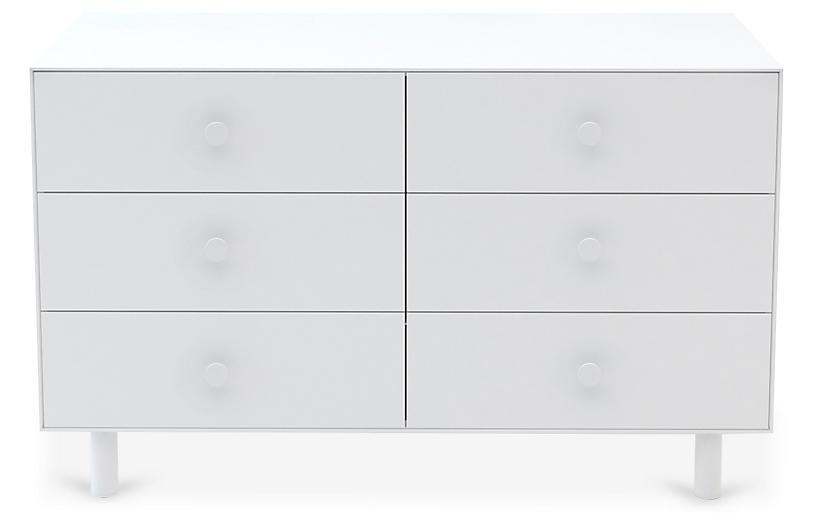 Classic 6-Drawer Dresser, White