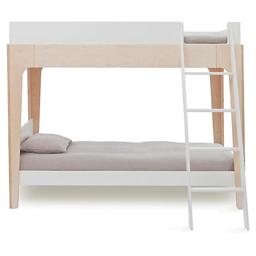 Perch Bunk Bed, White/Natural