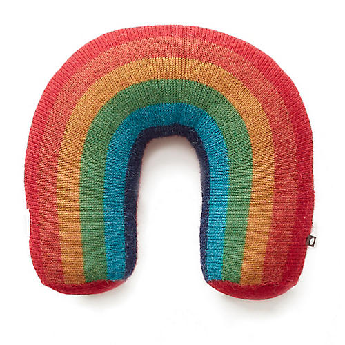 Rainbow Kids' Pillow, Teal/Multi