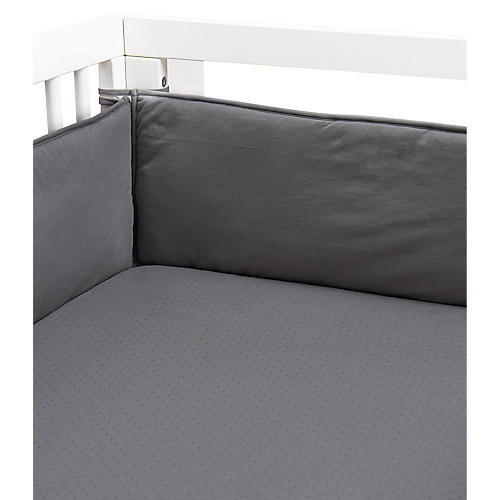 Crib Fitted Sheet, Charcoal/Black