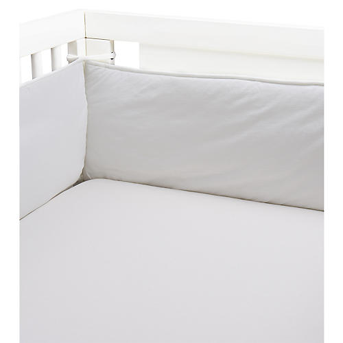 Crib Fitted Sheet, White