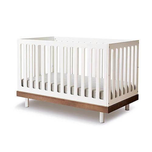 Classic Crib, Walnut/White