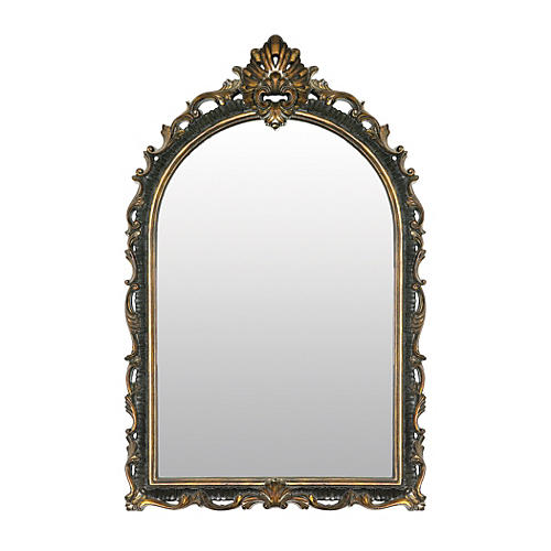 "Acanthus 41""x26"" Wall Mirror, Gold"