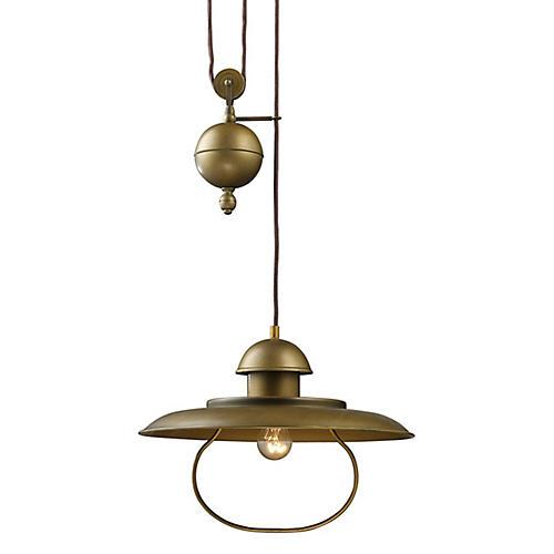 Farmhouse Pulldown Pendant, Brass