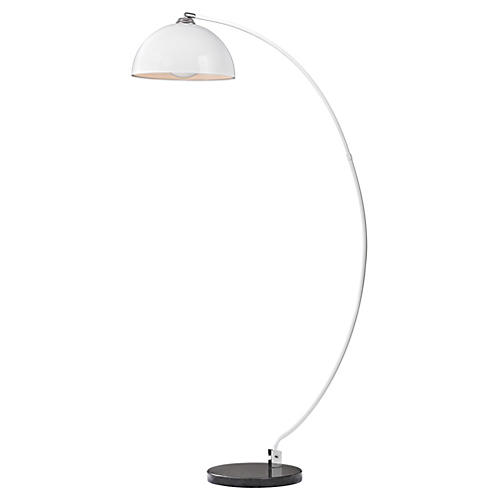 Contemporary Arc Floor Lamp, White