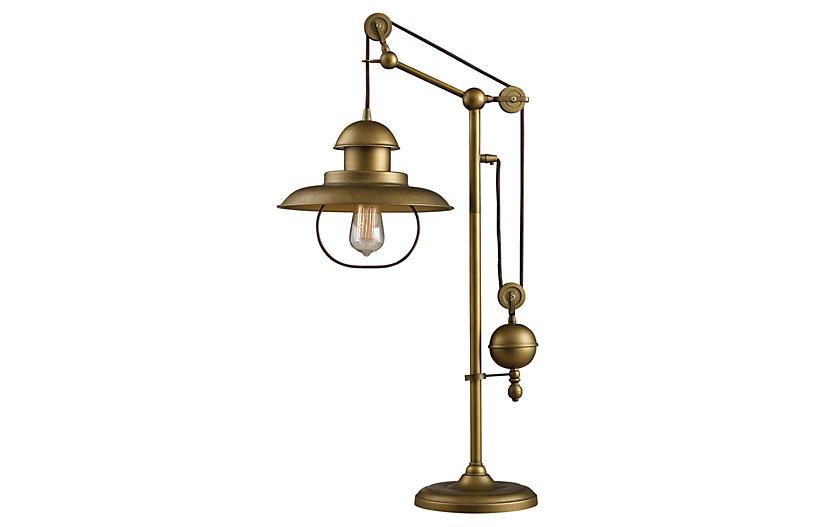 Farmhouse Table Lamp, Bronze