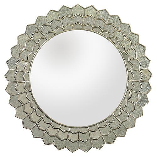Sunburst Mirror, Silver