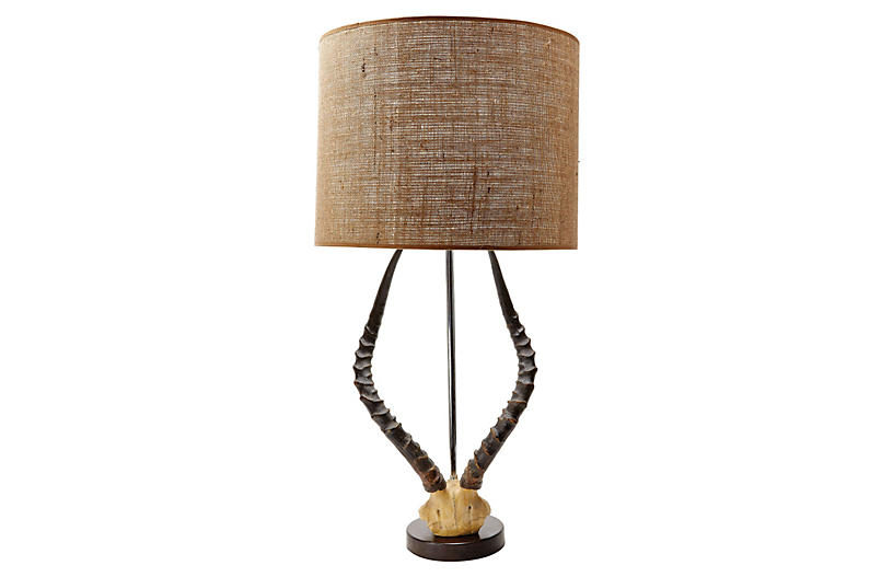 Antler Table Lamp - Natural