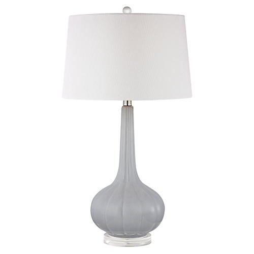 Abbey Lane Table Lamp, Pastel Blue