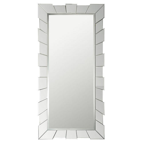 Cog Floor Mirror, Clear